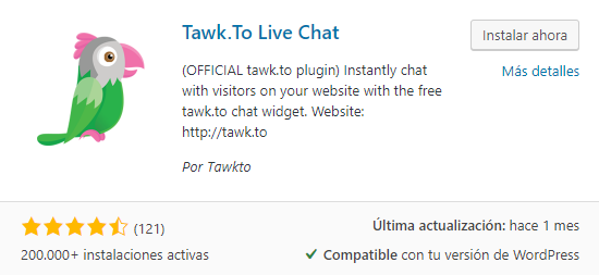 tawk wordpress plugin